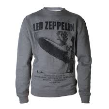 led zeppelin sweater led zeppelin official store uk tour 1969 lz i grey