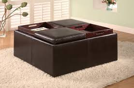 Colored Ottoman Furniture Ottoman Tray Top Coffee Table Design With With Two