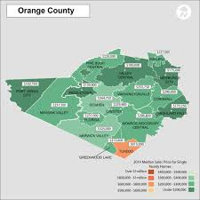 Map Showing New York by Orange County New York Real Estate Price Map Heat Map Showing