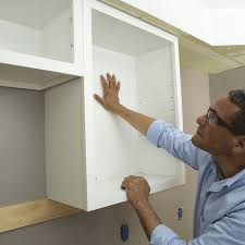 How To Take Cabinets Off The Wall Install Upper Cabinets
