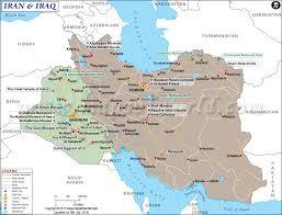 map iran iraq of iraq and iran