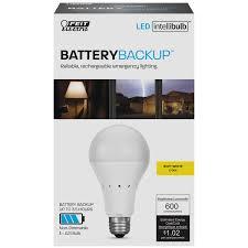 light bulbs and batteries intellibulb battery backup 600 lumen 2700k led a19 feit electric