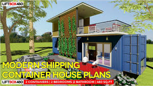 modern shipping container house plans liftbox 480 by sheltermode