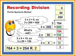 3 partial quotient division media resumed