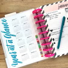 printable january 2016 weekly planner 2016 year at a glance free printable for the happy planner me