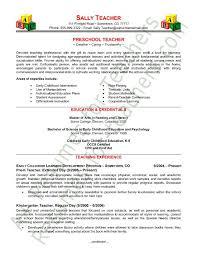 preschool teacher resume sample page 1 curriculum vitae