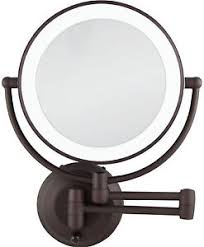 Wall Mounted Mirror With Lights Zadro 1x 10x Cordless Led Lighted Wall Mount Makeup Mirror Ledw810
