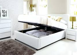 storage bed frame double u2013 bare look