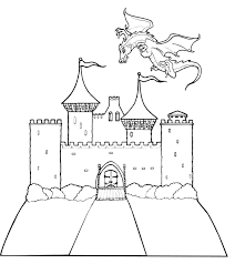 castle pictures color coloring pages free blueoceanreef