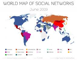 World Map Image by World Map Of Social Networks