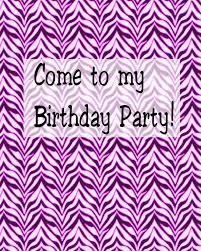 8 best images of zebra print party invitations printable roller