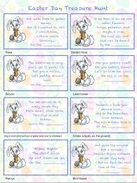 Easter Scavenger Hunt Free Printables Easter Egg Treasure Hunt 24 Mix U0026 Match Clue