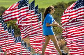 Spin Flag Flag Tribute For 9 11 Victims At Pepperdine University In Malibu