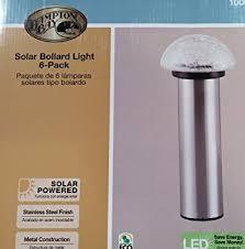 Hampton Bay Outdoor Solar Lights by Amazon Com Hampton Bay Solar Bollard Light 6 Pack Stainless
