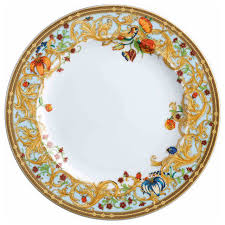 versace le jardin dinner plate traditional dinner plates by