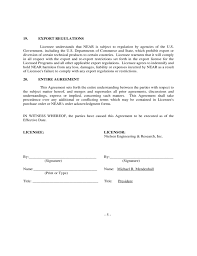 licensing agreement template free sample software license agreement free download