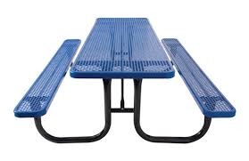 Commercial Picnic Tables by Rectangular Perforated Metal Table Site Furnishings Commercial