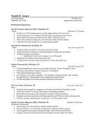 resume nataliejaegerfinal digital u0026 social media social media