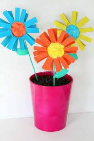 paper flowers kid craft easy tutorial