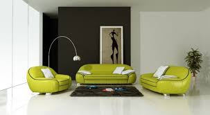 canapé vert ensemble de canapé en cuir italien 2 places fautuil modèle cotton
