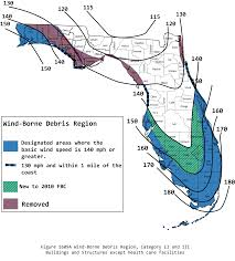 Map Florida Counties by Wind Zone Map