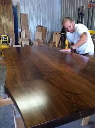 Black Walnut Table Top by Live Edge Tables U0026 Furniture Tree Green Team Collingwood Ontario