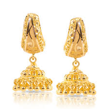 gold jhumka earrings design with price domed jhumkas jewellery india online caratlane