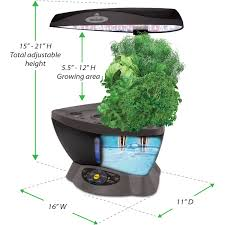 miracle gro aerogarden classic 6 with gourmet herbs seed pod kit