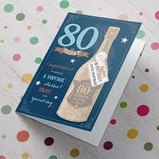 personalised 80th birthday card a vintage classic from 99p