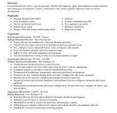 resumes for electricians industrial electrician resume resume