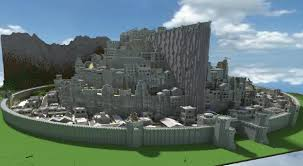 Lord Of The Rings World Map by Epicquestz Minas Tirith A Lord Of The Rings Build Maps