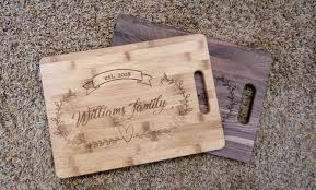 personalized cutting board personalized cutting board 3 wood choices xtched engravings