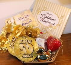 ideen zur goldenen hochzeit goldene hochzeit geschenkkorb geschenke goldhochzeit geschenk