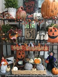 How To Decorate A Bakers Rack Decorate Your Porch For The Autumn Season