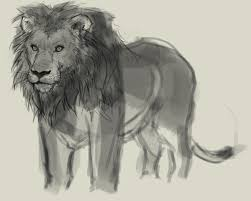 how to draw lion drawing and digital painting tutorials online