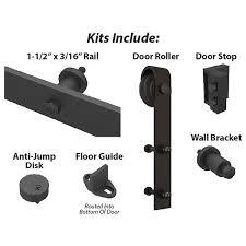 Barn Door Roller American Pro Decors Black Solid Steel Decorative Sliding Rolling