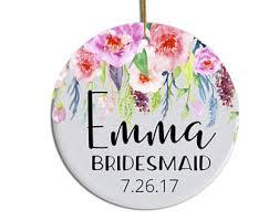 Custom Made Christmas Ornaments Toronto by Bridesmaid Ornament Etsy