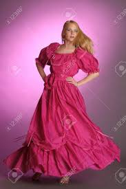 the in an ancient pink dress stock photo picture and royalty