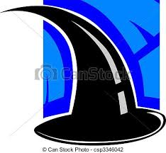illustration of a wizard hat clip art search illustration