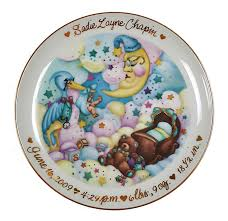 birth plates hillman children s personalized plates commission artist