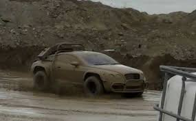 this bentley continental gt off roader is either fake or a mustang