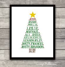 christmas personalized personalized christmas tree print