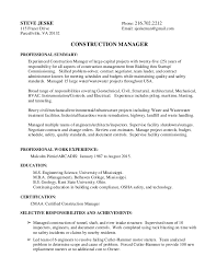 resume summary of qualifications for cmaa steve jeske resume project summary combined