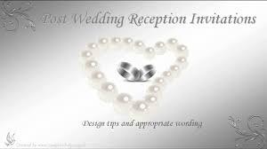 post wedding reception wording exles adorable post wedding reception invitation card with jewelry