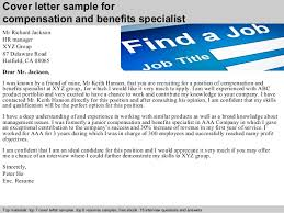 benefits specialist resume sample compensation and benefits specialist cover letter