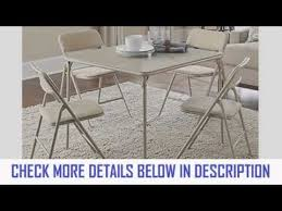 5 Piece Folding Table And Chair Set Cosco Products 5piece Folding Table And Chair Set Tan Youtube