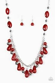 red necklace jewelry images Paparazzi accessories hues she red jpg