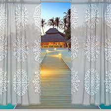 Window Sheer Curtains Alaza Window Sheer Curtain Panels Decoration
