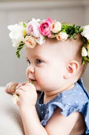 how to make baby flower headbands diy floral crown the effortless chic