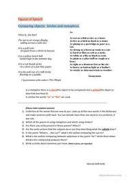 13 free esl metaphor worksheets